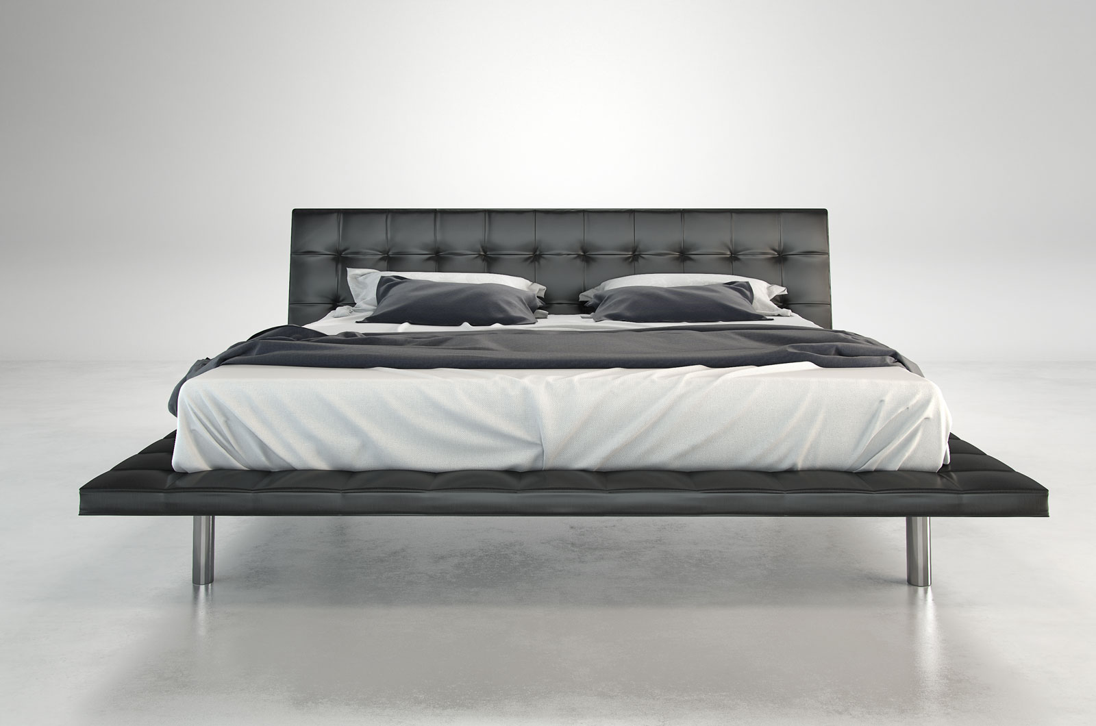 Howard Modern Leather Bed By Modloft