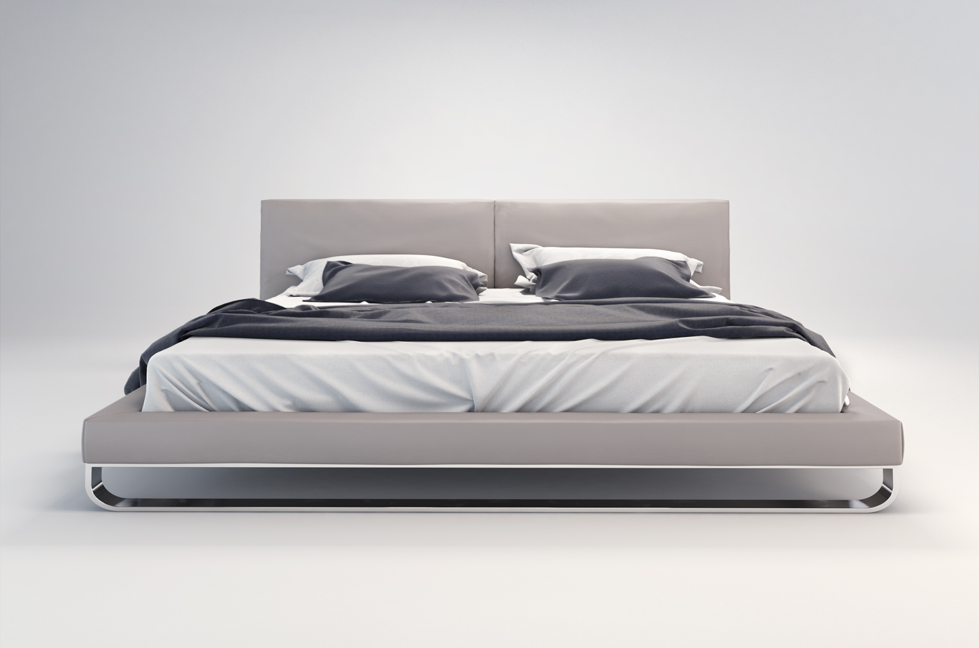 chelsea modern leather bed by modloft nova interiors - chelsea modern leather bed by modloft