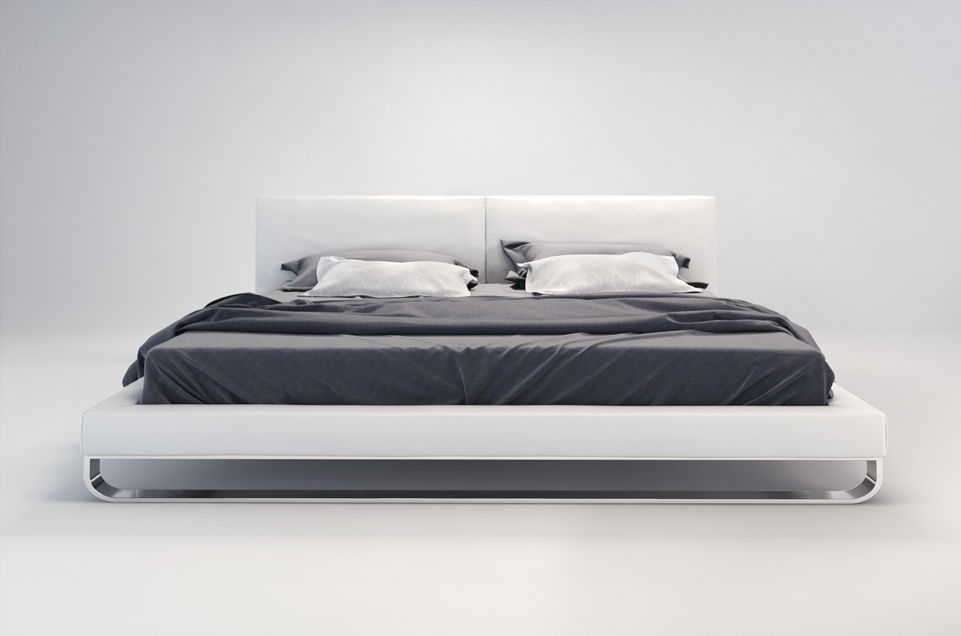 chelsea modern leather bed by modloft nova interiors. Black Bedroom Furniture Sets. Home Design Ideas