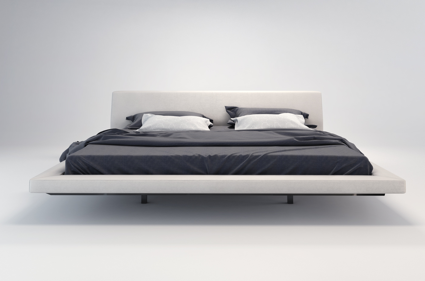 Jane Modern Fabric Bed By Modloft Nova Interiors