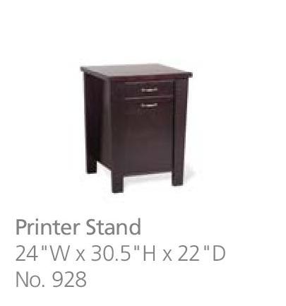 928 printer stand dimensions