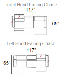 romeo sectional stock configurations