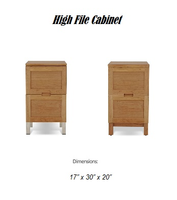 high file cabinet dimensions