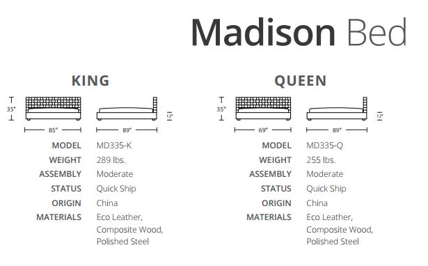 madison sizes