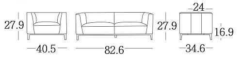 amelia sofa dimensions