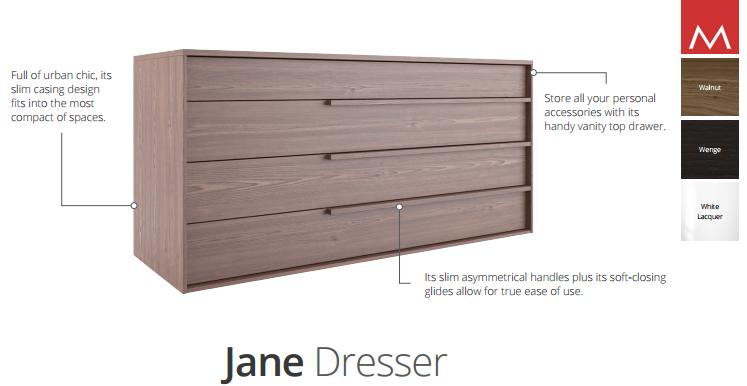 jane dresser specifications