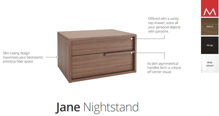 jane nightstand specs