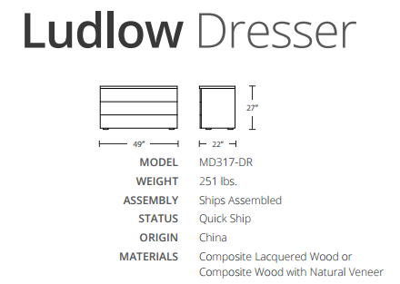 ludlow dimensions
