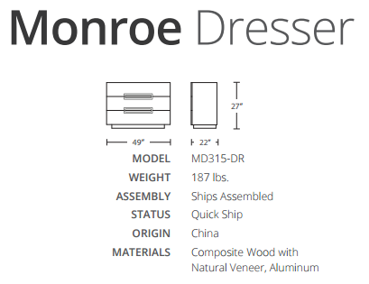 monroe dimensions