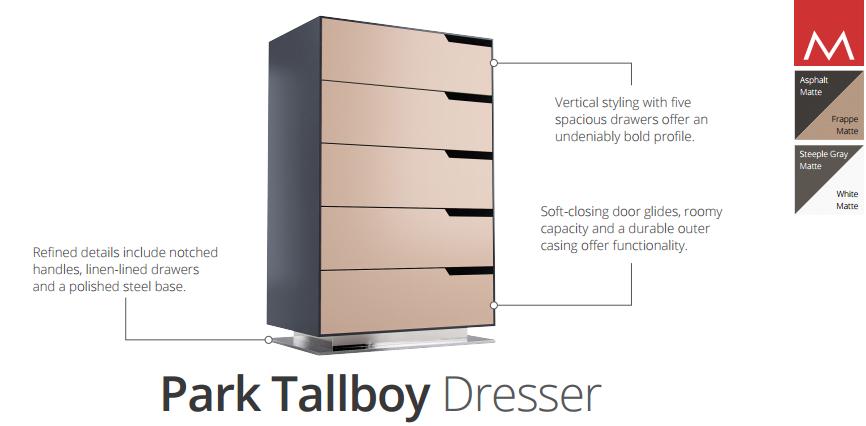park dresser dimensions