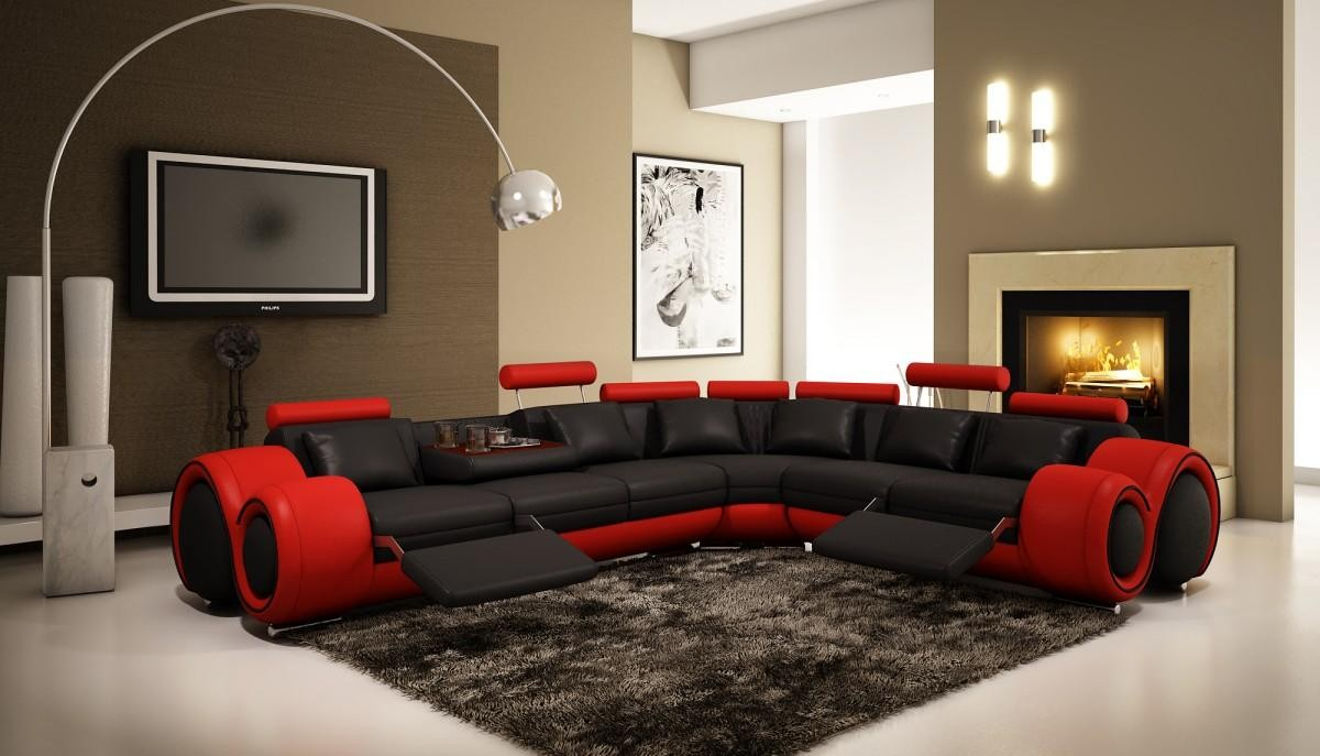 4087 Bonded Leather Sectional Sofa With Recliners & Red Leather Sectional Sofa With Recliners | Centerfieldbar.com islam-shia.org