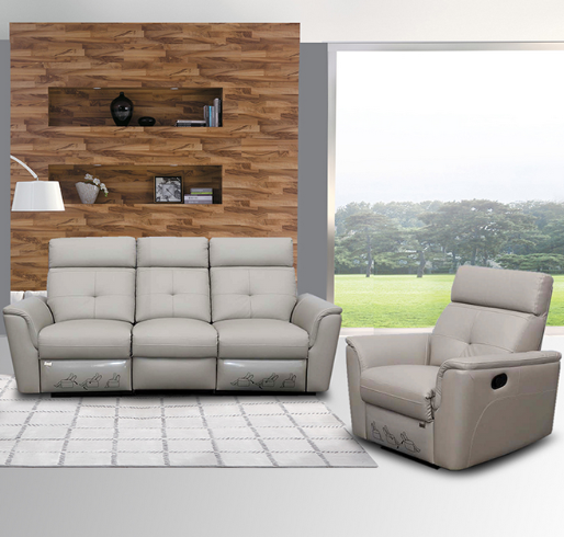 8501 contemporary reclining Leather sofa