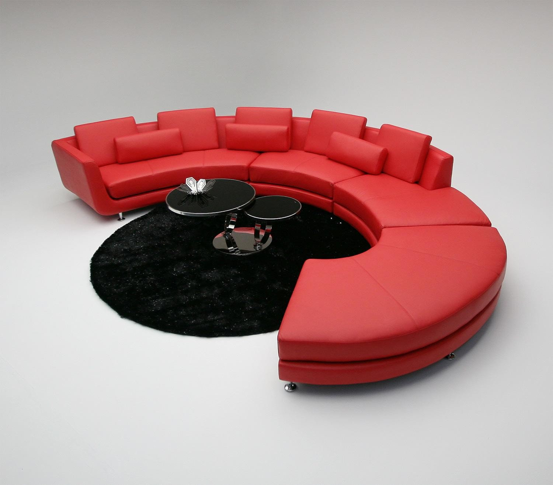 A94 Contemporary ALL Leather Sectional Sofa & Ottoman NOVA Interiors