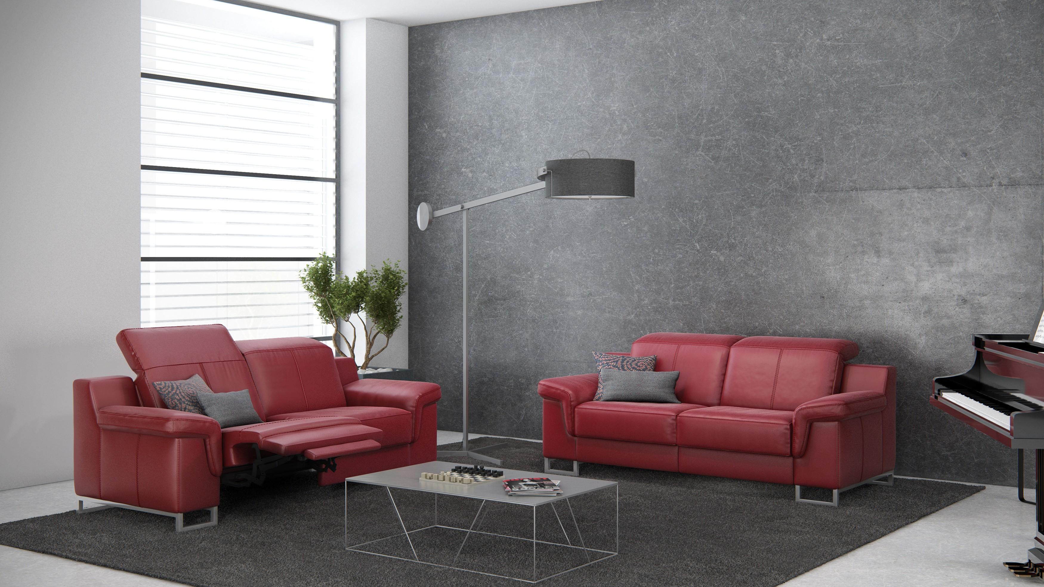 Apollon Leather Sofa    Rom   Made in Belgium