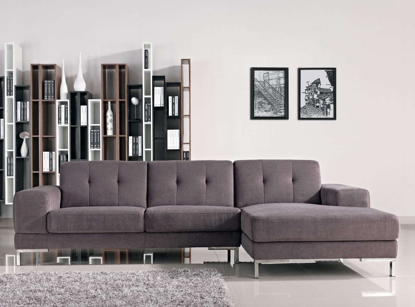 L Shape Gray Fabric Sectional Sofa from NOVA interiors