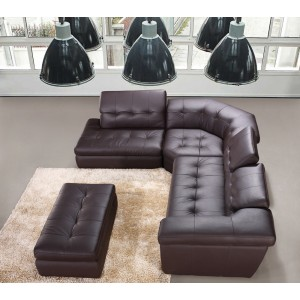 397 ITALIAN LEATHER SECTIONAL By J&M