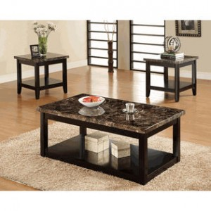 Lawndale Coffee Table and Two End Tables By FOA
