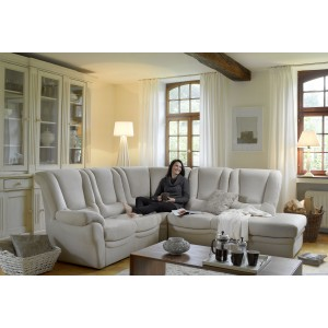 Brissac Leather Sectional   Rom   Made in Belgium