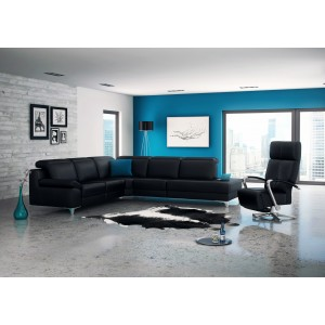 Levana Leather Sectional   Rom   Made in Belgium