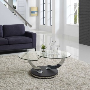 Lulu Rotating Coffee Table, Espresso Base
