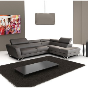 Sparta | Delancey Italian Leather Sectional By Nicoletti