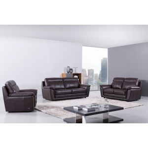 S210 Sofa Set in Brown Leather