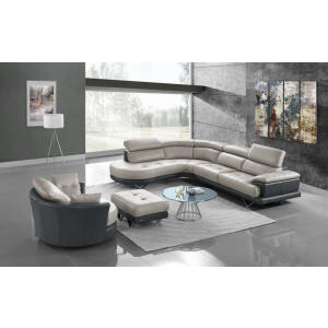 Cecile Premium Italian Leather Sectional