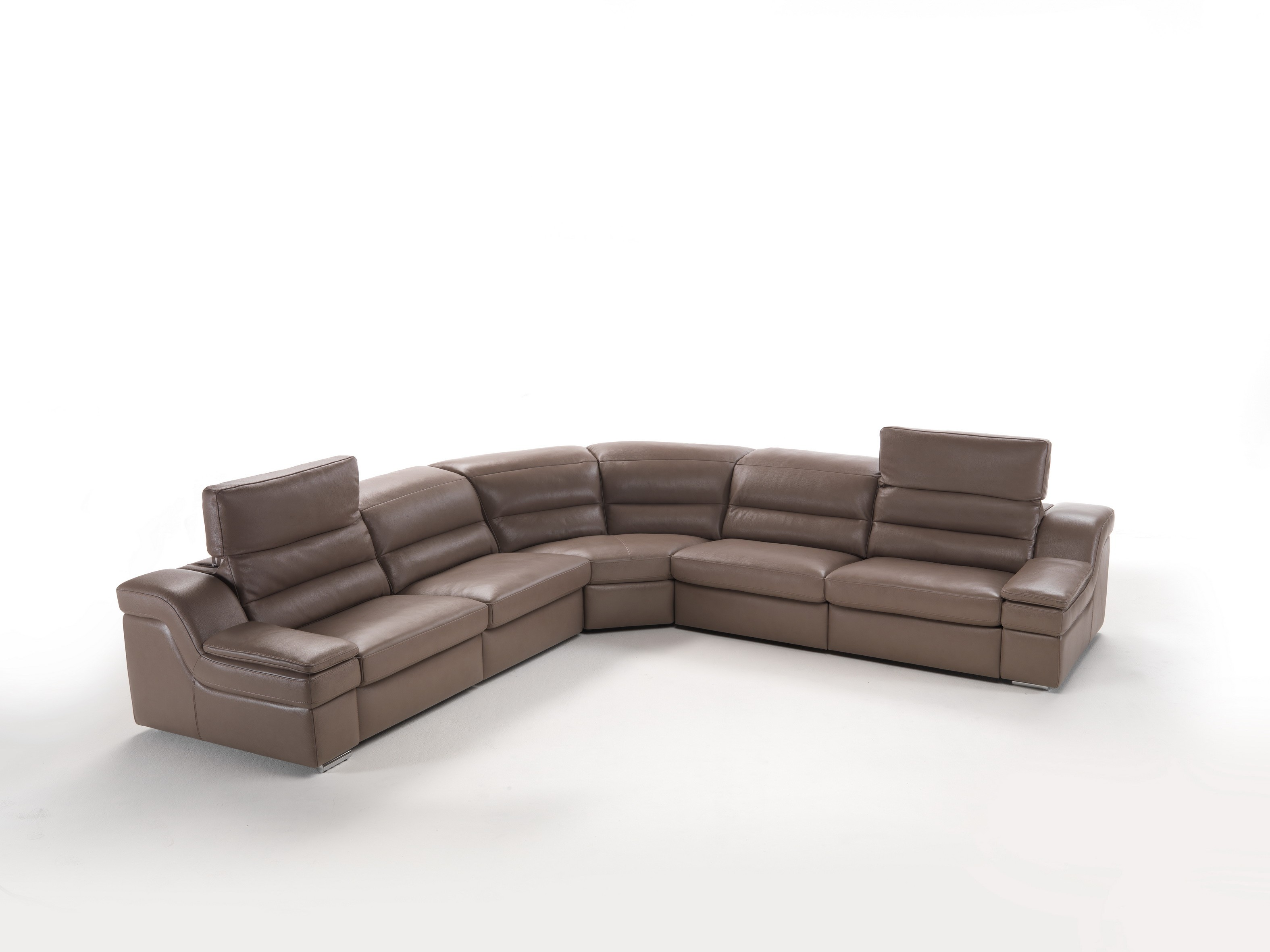 Erica premium leather sectional with power recliners by IDP Italia