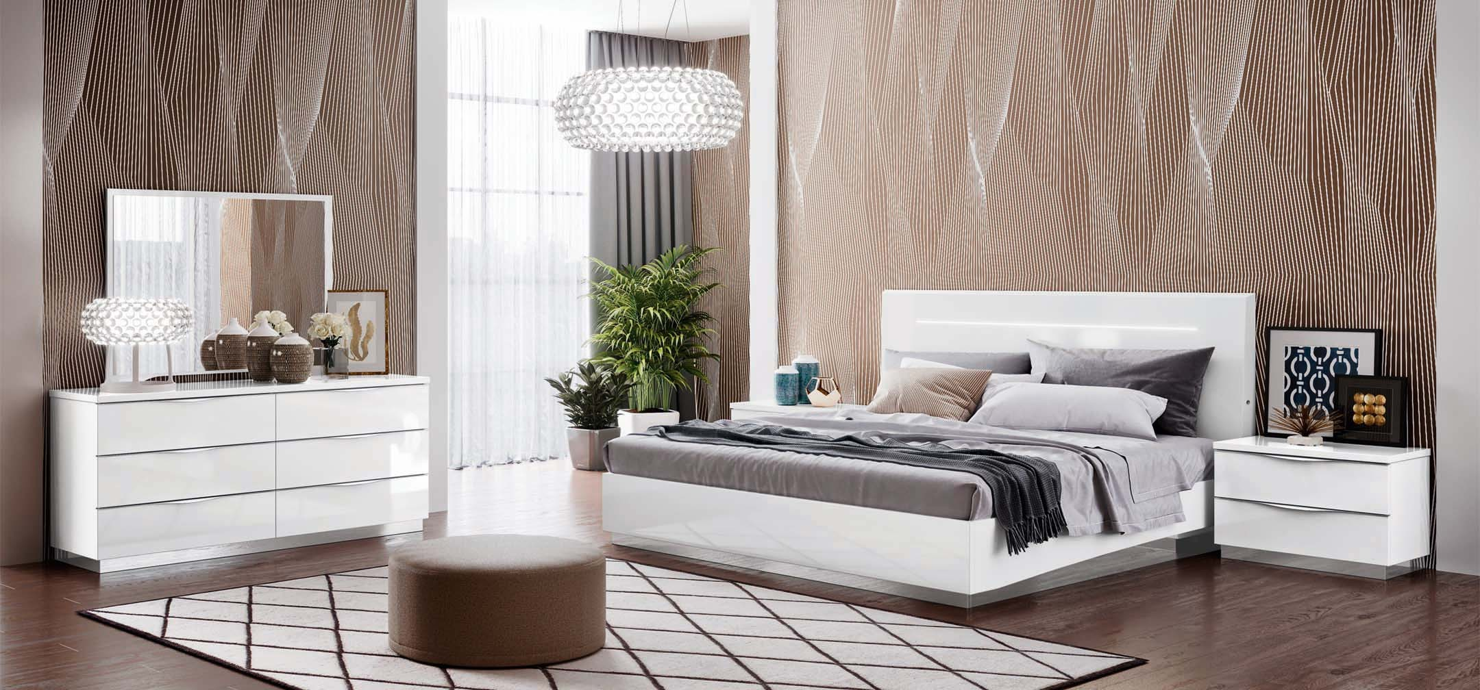 onda legno white bedroom set by camel group nova interiors 12460 | onda legno white